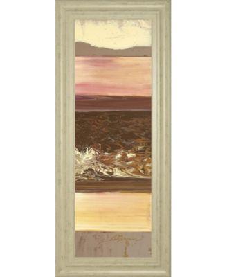 """Down Under II by Dlynn Roll Framed Print Wall Art, 18"""" x 42"""""""