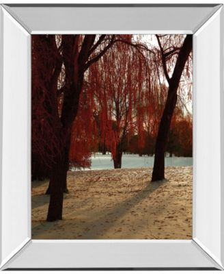 "Autumn Snow I by Alicia Suave Mirror Framed Print Wall Art, 22"" x 26"""