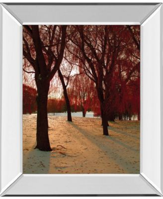 "Autumn Snow II by Alicia Suave Mirror Framed Print Wall Art, 22"" x 26"""