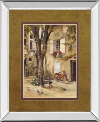 """Provence Village I by Marilyn Hageman Mirror Framed Print Wall Art, 34"""" x 40"""""""