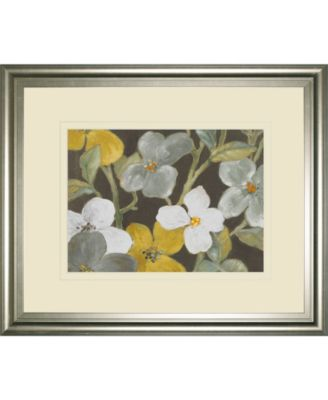 "Garden Party in Gray 1 by Lanie Loreth Framed Print Wall Art, 34"" x 40"""