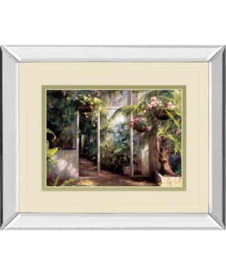 "Atriums First Light I by Hali Mirror Framed Print Wall Art, 34"" x 40"""