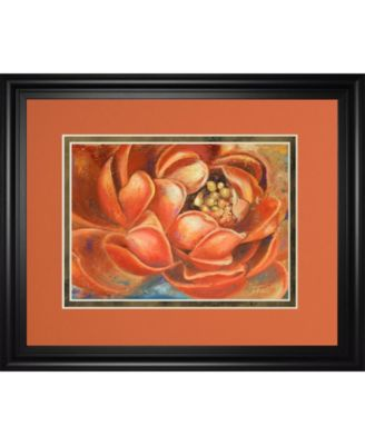 """Red Lotus I by Patricia Pinto Framed Print Wall Art, 34"""" x 40"""""""