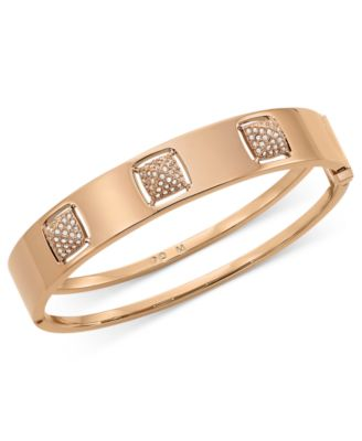 Swarovski Rose Gold,Tone PVD Crystal Stud Bangle Bracelet