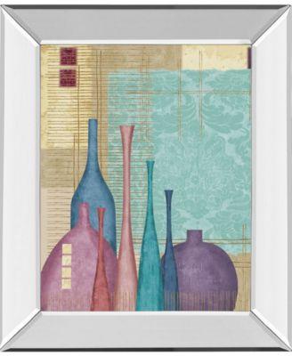 "Raku I by Linda Wood Mirror Framed Print Wall Art, 22"" x 26"""