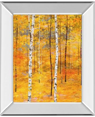 "Iridescent Trees V by Alex Jawdokimov Mirror Framed Print Wall Art, 22"" x 26"""