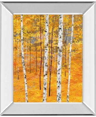 "Iridescent Trees IV by Alex Jawdokimov Mirror Framed Print Wall Art, 22"" x 26"""