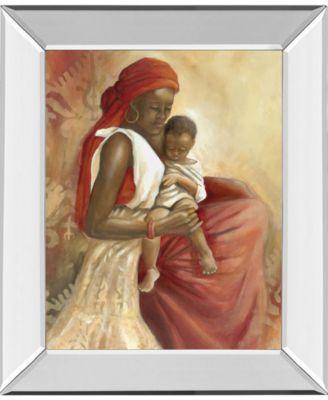 "Beauty of Love I by Carol Robinson Mirror Framed Print Wall Art, 22"" x 26"""