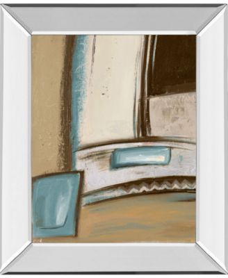 """Time Flies on Blue I by Patricia Pinto Mirror Framed Print Wall Art, 22"""" x 26"""""""