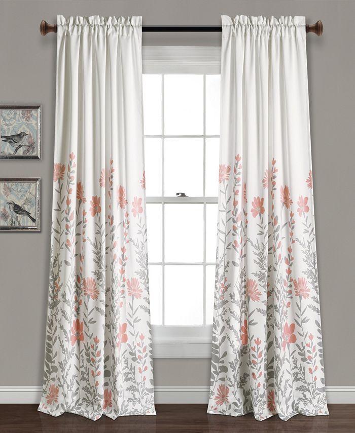 """Lush Décor - Aprile 52"""" x 84"""" Floral Curtain Set"""