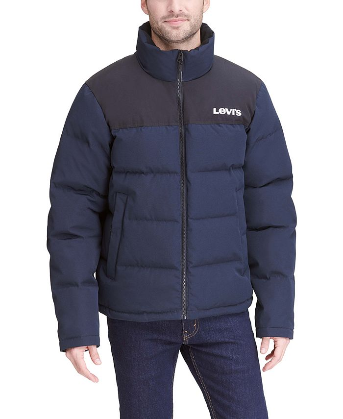 Levi's - Men's Colorblocked Quilted Puffer Jacket