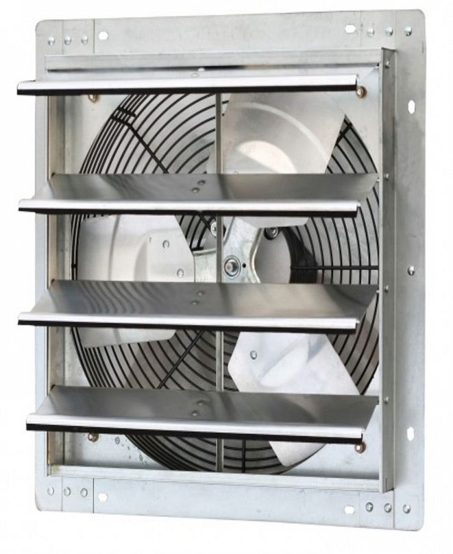 """iLiving 16"""" Variable Speed Shutter Exhaust Fan, Wall-Mounted"""