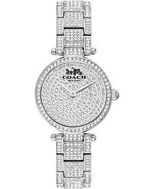 COACH Women's Park Pavé Stainless Steel Bracelet Watch 26mm