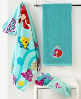 Disney Bath Towels Little Mermaid Shimmer And Gleam Collection