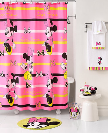 Disney Bath Neon Minnie Kids Bathroom Sets And Accessories Macy S