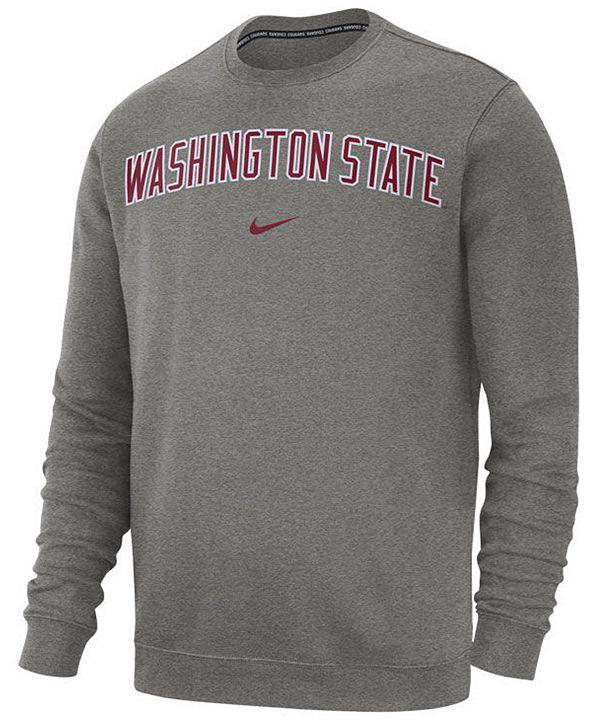 Nike Men's Washington State Cougars Club Fleece Crewneck Sweatshirt