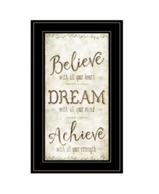 Believe by Mollie B, Ready to hang Framed Print, Black Frame, 12
