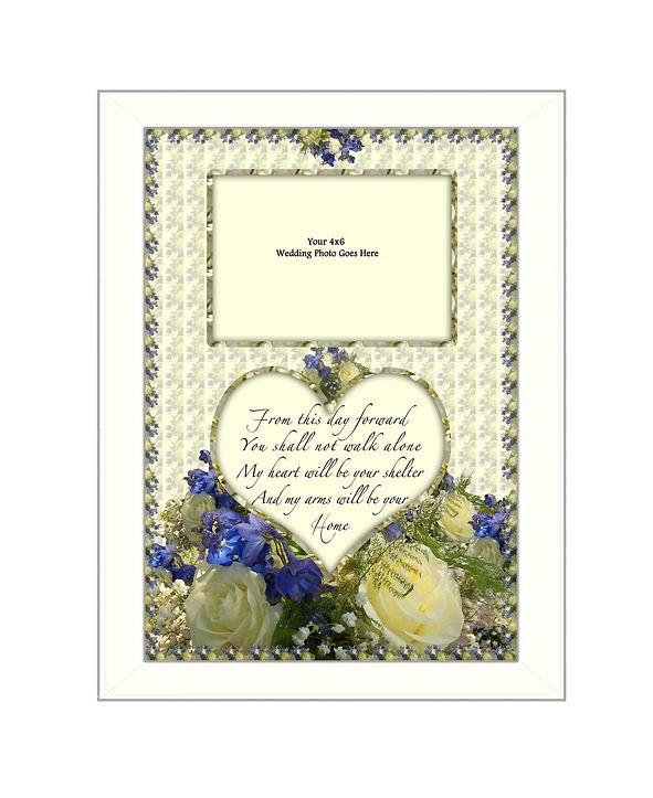 """Trendy Decor 4U From this Day By Trendy Decor4U, Printed Wall Art, Ready to hang, White Frame, 14"""" x 10"""""""