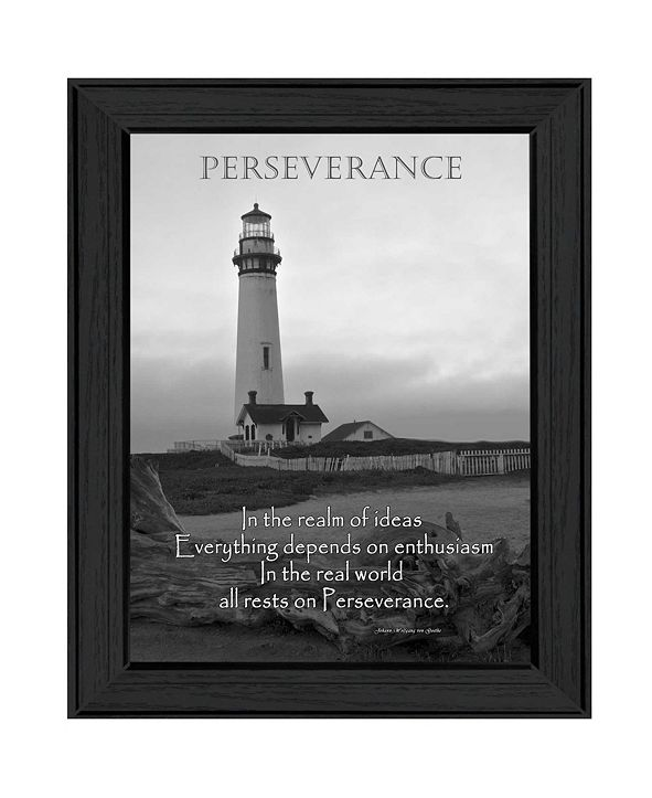 "Trendy Decor 4U Perseverance By Trendy Decor4U, Printed Wall Art, Ready to hang, Black Frame, 18"" x 14"""