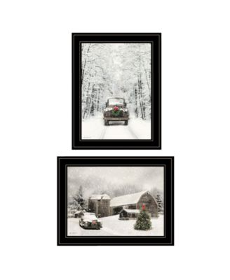 Antique Christmas 2-Piece Vignette by Lori Deiter, White Frame, 19