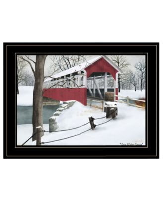 Crisp Winter Evening by Billy Jacobs, Ready to hang Framed Print, Black Frame, 19