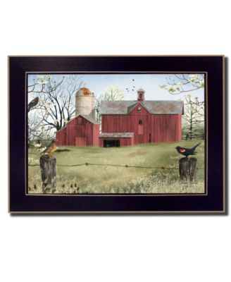 Harbingers of Spring By Billy Jacobs, Printed Wall Art, Ready to hang, Black Frame, 14