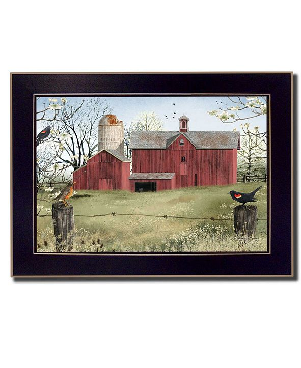 """Trendy Decor 4U Harbingers of Spring By Billy Jacobs, Printed Wall Art, Ready to hang, Black Frame, 14"""" x 10"""""""