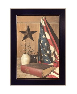 God and Country By Billy Jacobs, Printed Wall Art, Ready to hang, Black Frame, 15
