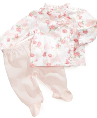 First Impressions Baby Set Baby Girls Ruffle Shirt and Pants