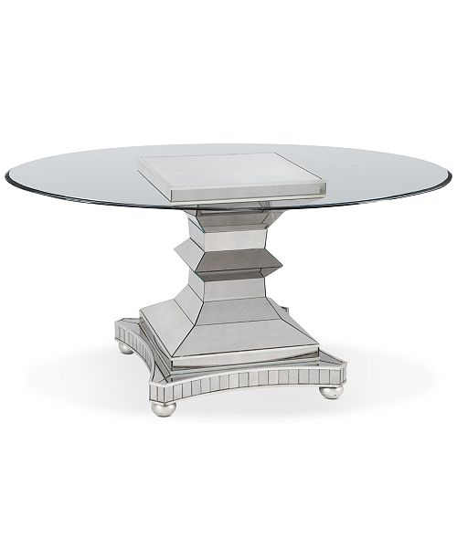 Furniture Moiselle 60 Glass Top Round Dining Table Reviews Furniture Macy S