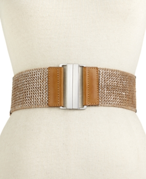 Steve Madden Belt Lurex Basketweave Stretch