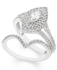 Certified Diamond (1 ct. t.w.) Bridal Set in 14k White Gold