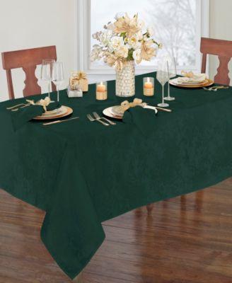 Elrene Poinsettia Jacquard Holiday Tablecloth - 90