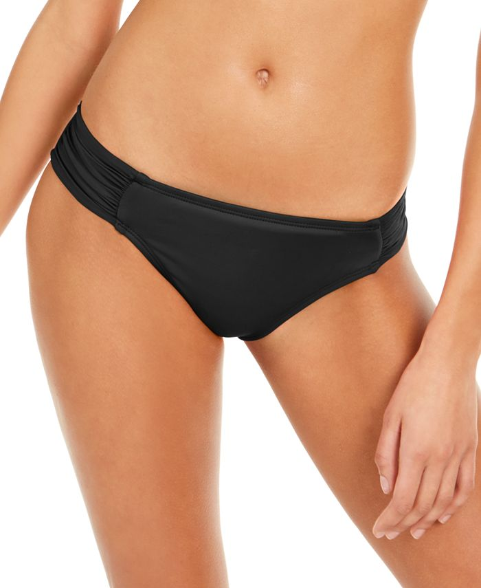 La Blanca - Island Goddess Ruched-Side Hipster Bikini Bottoms