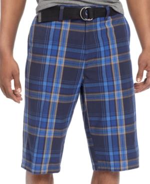 Sean John Shorts Plaid Shorts