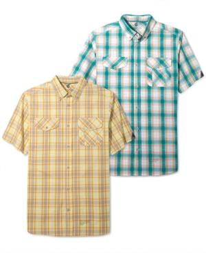 Rocawear Shirt Beach Plaid Shirt