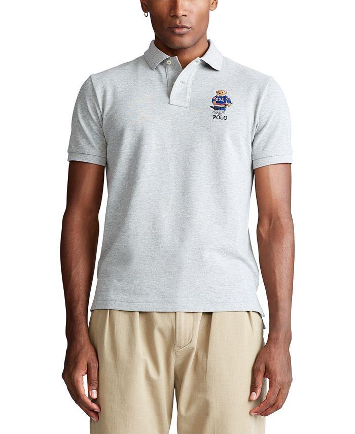 Polo Ralph Lauren Men's Custom Slim Fit Polo Bear Mesh Polo Shirt ...