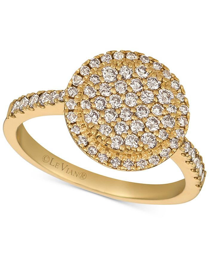 Le Vian - Nude Diamond Halo Cluster Statement Ring (3/4 ct. t.w.) in 14k Gold
