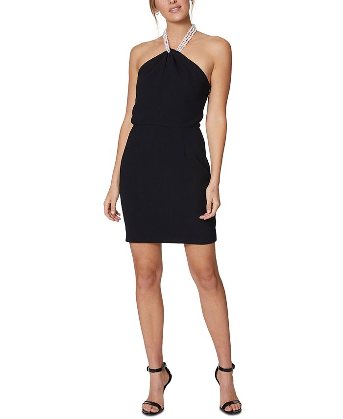 Laundry by Shelli Segal - Faux-Pearl-Necklace Dress