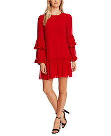 CeCe Sheer Ruffled Dress
