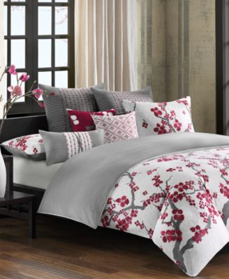 N Natori Cherry Blossom California King Comforter Set. N Natori Cherry Blossom California King Comforter Set   Bedding