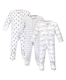 Touched by Nature Baby Girl and Boy Organic Sleep and Play 3 Pack