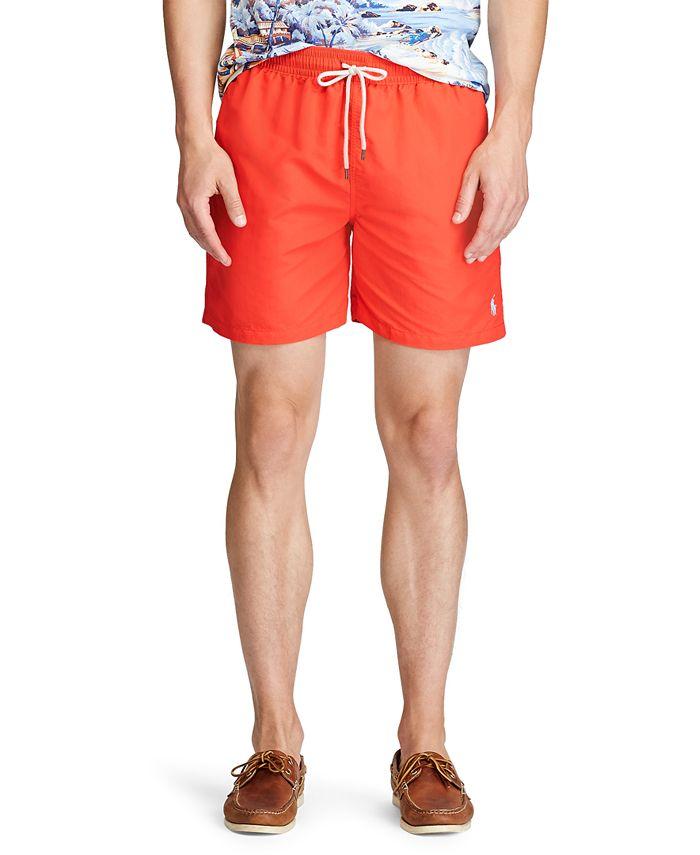 """Polo Ralph Lauren - Men's 5-1/2"""" Traveler Swim Trunks"""