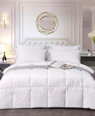 All Season White Down Fiber Comforter, Twin