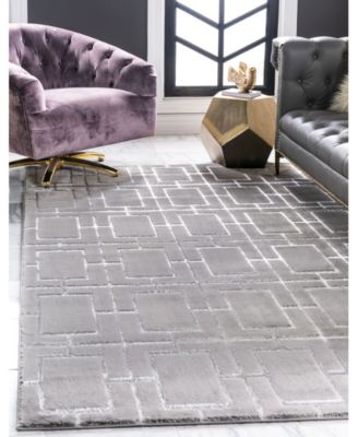 Glam Mmg002 Gray/Silver 5' x 8' Area Rug