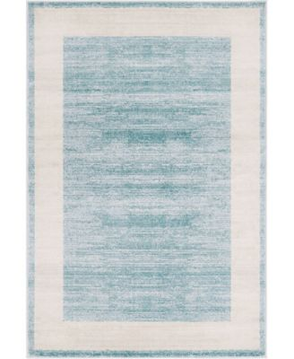 Yorkville Uptown Jzu007 Turquoise 4' x 6' Area Rug