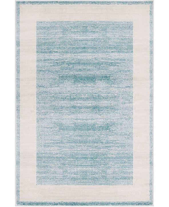 Jill Zarin Yorkville Uptown Jzu007 Turquoise 4' x 6' Area Rug