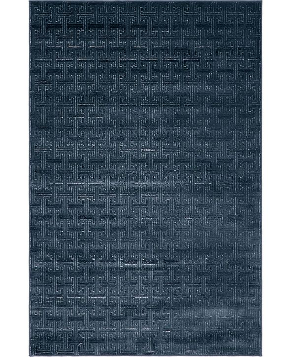Jill Zarin Park Avenue Uptown Jzu004 Navy Blue 4' x 6' Area Rug