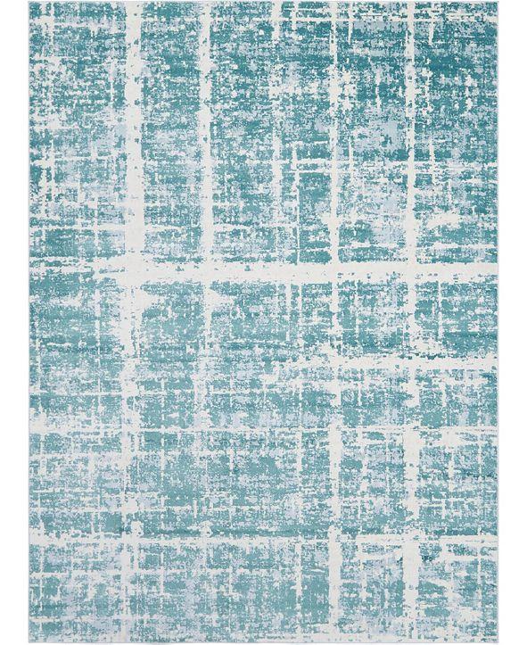 Jill Zarin Lexington Avenue Uptown Jzu003 Turquoise 9' x 12' Area Rug
