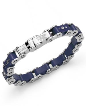 IceLink - Stainless Steel Bracelet, Medium Navy Bicycle Bracelet